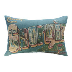 Greetings From Georgia Linen Pillow