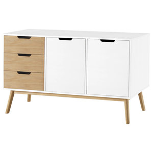 Natural and White 2-Door Buffet