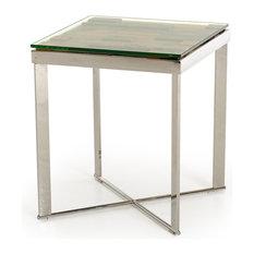 Vig Furniture Inc.   Modrest Santiago Modern Rectangular Wood Mosaic End  Table   Side Tables