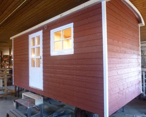 mobilheim gartenhaus auf r der sch ferwagen. Black Bedroom Furniture Sets. Home Design Ideas