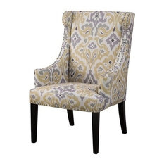 Madison Park Marcel High Back Wing Chair Yellow
