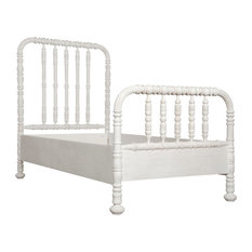 Noir Bachelor Twin Bed With White Wash Finish GBED112TWH