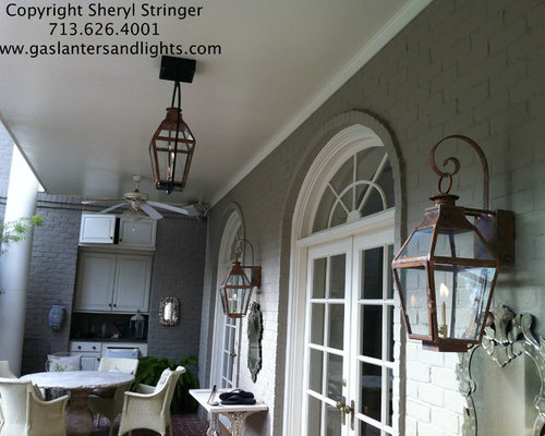 Sheryl Stringer - Sheryl;s French Lanterns with Glass Tops - Outdoor Lighting