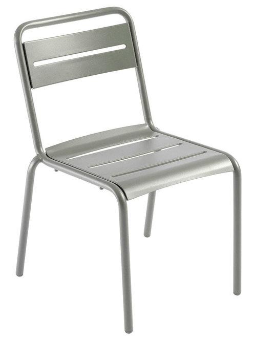 Star Stol, Silver - Udendørs spisebordsstole
