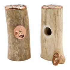 Copper Salt & Pepper Shakers With Antler, Small