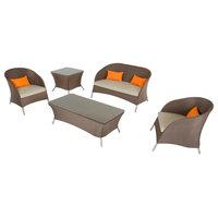 5-Piece Renava Zamora Outdoor Brown Sofa Set