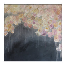 Extra Large Abstract Original Flower Painting on Canvas Modern Acrylic Painting