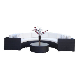 Ohana 9 Piece Deep Seating Sectional Set Tropical