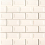 Tilesbay - Almond Glossy 3X6 Inverted Beveled Subway Tile, 25 Sft - Almond Glossy Inverted Beveled ceramic tiles have white and light beige tones that are accented by the unique surface texture. The result is a timeless and classic backdrop perfect for kitchens and bathrooms in both residential and commercial properties. These gorgeous tiles are suitable for use as wall tiles and backsplash tiles, and they coordinate beautifully with a wide range of floor tiles and natural stone slabs in our inventory to complete the project.