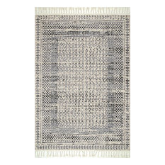 nuLOOM Claudia Diamond Tassel Transitional Area Rug, Gray Multi, 2'x4'