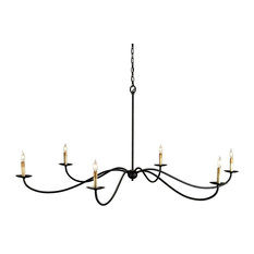 Rustic Saxon Chandelier 6-Light, Zanzibar Black