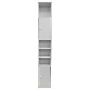 Jamerson Large Tall Tower Cupboard With Shelves, White
