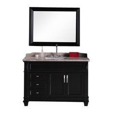 "Design Element DEC059B Hudson 48"" Single Sink Vanity Set, Espresso"