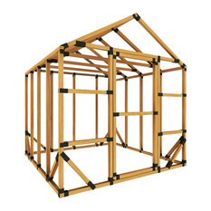 8x8 Standard Storage Shed Kit, With Floor Framing