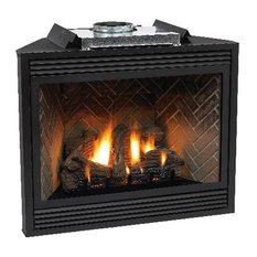 """Premium 36"""" Direct-Vent Liquid Propane  Multi-Function Control Fireplace"""