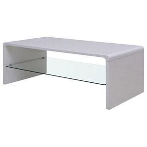 VidaXL Arch Coffee Table, High Gloss White