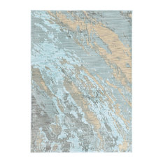 """Casa Marble Rug, Blue and Gray, 3'10""""x5'5"""""""