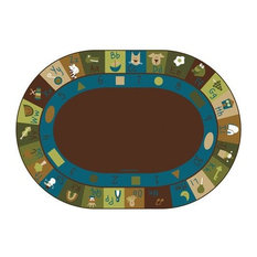 Learning Blocks Nature Kids Rug Size 8'3x11'8 Oval by Carpets for Kids