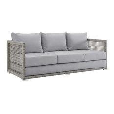Aura Outdoor Patio Wicker Rattan Sofa by Modway