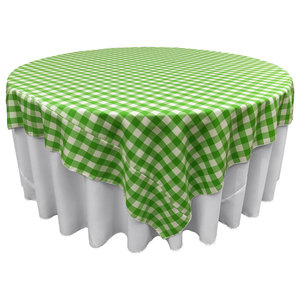 La Linen Square Polyester Poplin Tablecloth Contemporary