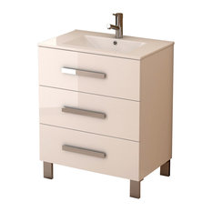 Libra Modern Freestanding Bathroom Vanity With Integrated Sink White