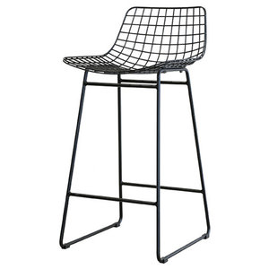 Wire Bar Stool, Black