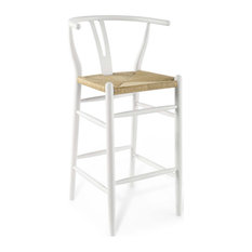 Amish Wood Bar Stool White