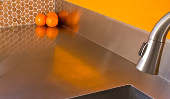 Stainless steel sink and counter