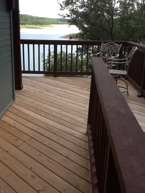 Last Year I Did Use Decker On The Cap Rail Looks Nice But Used Four Coats To Get It Good And Sealed Just Don T Want Floor Deck