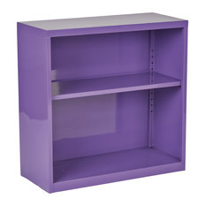 Metal Bookcase, Purple, Ships fully Assembled.
