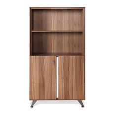 Jesper 300 Bookcase With Doors In Walnut