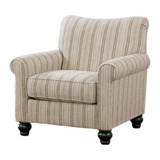 Signature Design by Ashley Furniture Milari Accent Chair in Maple Pinstripe
