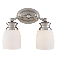 Elise 2 Light Bath Bar, Satin Nickel