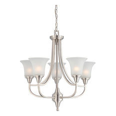 Nuvo Lighting 60-4146 Surrey 5-Light Chandelier with Frosted Glass