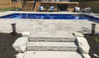 Natural Stone Swimming Pool Installation 2018