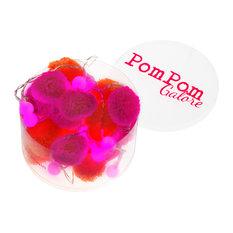 Pom Pom LED Lights, Orange and Pink