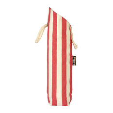 Striped Bottle Bag, Red and Natural