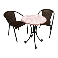 Romano Outdoor Table With San Remo Chairs, 3-Piece Set
