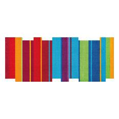Dancing Steps Door Mat, Multicoloured, 200x80 cm