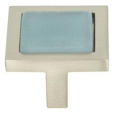 Atlas Homewares 230 Spa 1-3/8 Inch Square Cabinet Knob - Blue