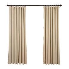 "Eggnog Doublewide Blackout Curtain Single Panel, 100""x84"""