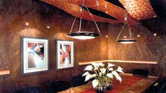 Chemetal 423, Swirled Copper Ceiling Panels