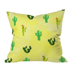 "Hello Sayang Cactus Madnessa Outdoor Throw Pillow, 16""x16"""