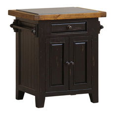 Hillsdale Tuscan Retreat Small Granite Kitchen Island, Black/Oxford -5267-855W
