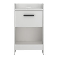 HOMESTAR NORTH AMERICA LLC   Homestar Central Park Drawer Nightstand, Frost  White   Nightstands And