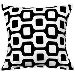 contemporary decorative pillows bainz blackwhite throw pillow - Black And White Decorative Pillows