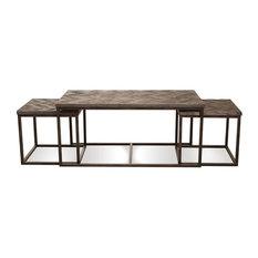 riverside riverside furniture chevron nesting cocktail table 3piece set coffee tables