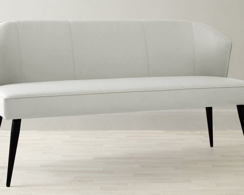 Mellow 3 Seater Dining Bench With Backrest In White   Dining Benches