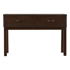 Charmant Rectangular Steamer Trunk Console Table   Console Tables
