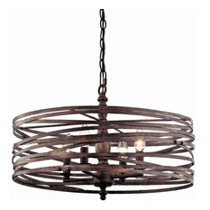 50 most popular contemporary chandeliers for 2018 houzz miseno pasco 4 light strap cage chandelier weathered iron chandeliers aloadofball Images